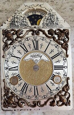 Clock Dial Warmink Bracket Mantel Clock Moon Dial Vintage Era