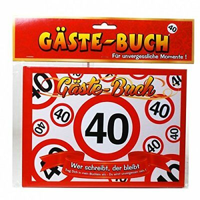 Birthday Guest Book 40th Anniversary Traffic Sign Party Decoration Guest Book