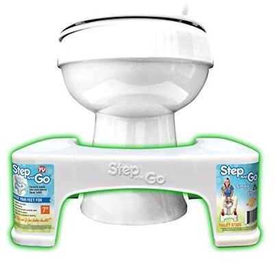 Toilet Stool Portable Bathroom Stepping Squatty Poop Potty Stools Support White