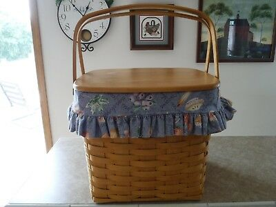 Longaberger 1998 GRANDMA BONNIE'S TWO 2 PIE BASKET COMBO w LID protector