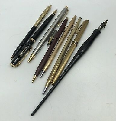 Vintage Gold Filled & Other Pens & Mechanical Pencils (Cross, Waterman, Ect) Lot