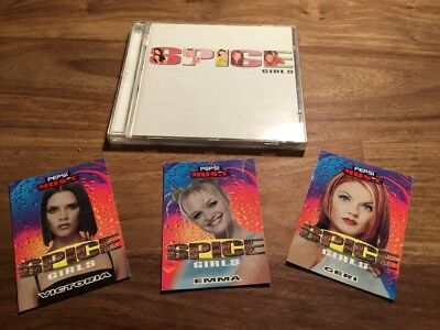 Pepsi Music Trading Cards, THE SPICE GIRLS, 3 Cards Only, Very Rare + Spice CD.