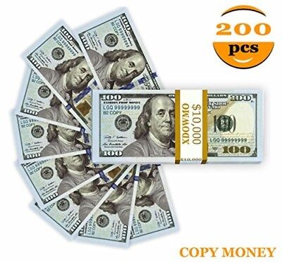 Play Prop Money 100 Dollar Bills Full Print Double Sided Life Size Fake Replica
