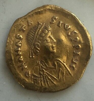 BYZANTINE GOLD SOLIDUS COIN Alexander the great I  527-565 AD