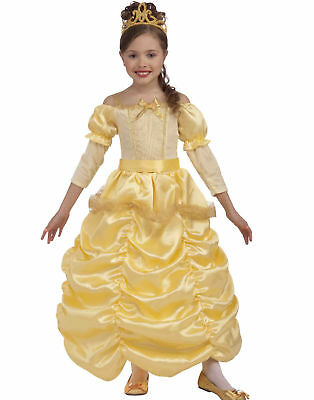 Disney Beauty And The Beast Princess Belle Girls Yellow Halloween Costume Small