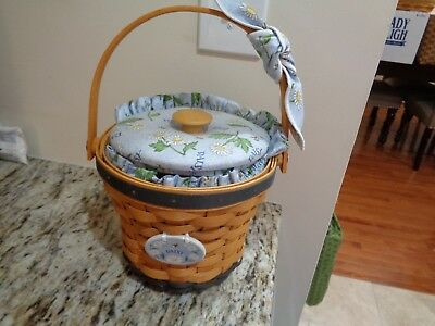 Longaberger May Series Daisy Basket Combo-Unique Fabric Lid