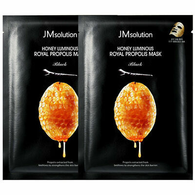 JM solution honey luminous royal propolis mask black 30ml x 2 Sheet