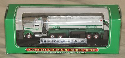 NEW 1998 Hess Miniature Mini Tanker Tractor Trailer Truck 1st in Series