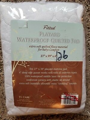 TL Care Playard Waterproof Quilted Pad Fitted Brand NEW