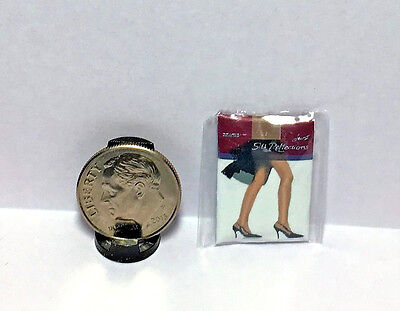 Dollhouse Miniature Panty Hose- Choice of Nude or Black Color 1:12 Handcrafted