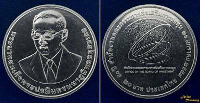 2016 THAILAND 20 BAHT Y#NEW 50th ANN.B.O.I. BOARD OF INVESTMENT NICKEL COIN UNC