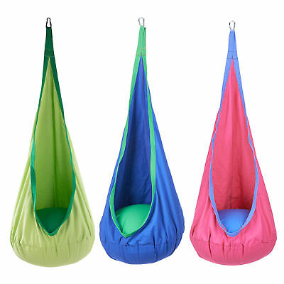 Child Kids Pod Swing Chair Nook Tent Indoor Outdoor Garden Hanging Seat Hammock