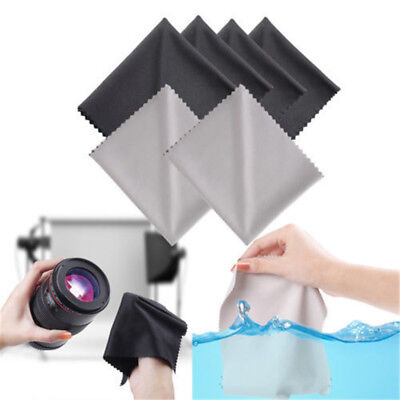 10Pack Premium Microfiber Cleaning Cloths for Lens Glasses Screen Black New