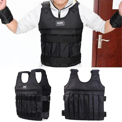UK 1-20kg Weighted Vest Gym Running Fitness Training Exercise Weight Loss Jacket