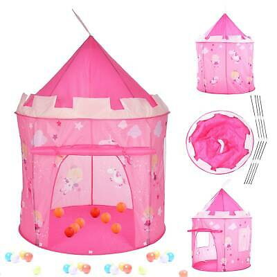 Pink Fairy Tale Princess Castle Pop Up Play Tent Playhouse For Kids