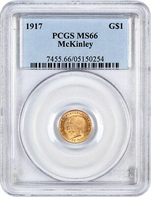 1917 McKinley G$1 PCGS MS66 - Classic Commemorative - Gold Coin