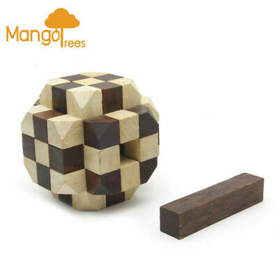 Wooden Brain Teaser Puzzles The Great Ball Puzzle 3D Wooden Puzzle Mango Trees