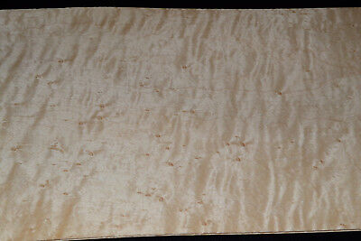 Birdseye Maple Raw Wood Veneer Sheets 7 x 24 inches  1/42nd thick   BEM1234
