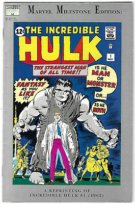 "1991. ""The INCREDIBLE HULK"". Milestone Edn. Reprint of the original #1 of 1962."