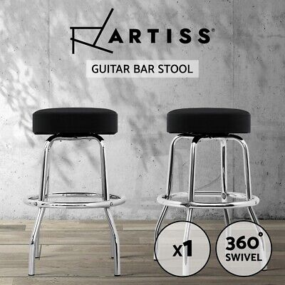 Artiss Guitar Stool Studio Chair Bar Stool Vinyl Swivel Barstools Chromed Frame