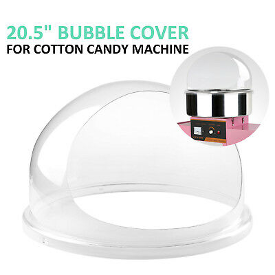 """Clear Cotton Candy Fairy Floss Machine Bubble Cover For 20.5"""" Diameter Bowl"""