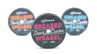 Drennan Greased Weasel Shock Leader 40m Spools