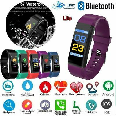 Smart Watch Bluetooth Armband Pulsmesser Schrittzähler Sportuhr Fitness Tracker