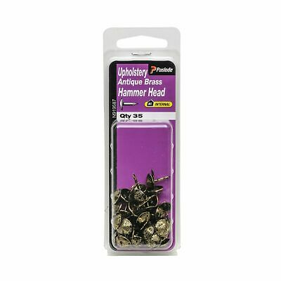 Paslode Antique Brass Upholstery Nails - 35 Pack - USA Brand