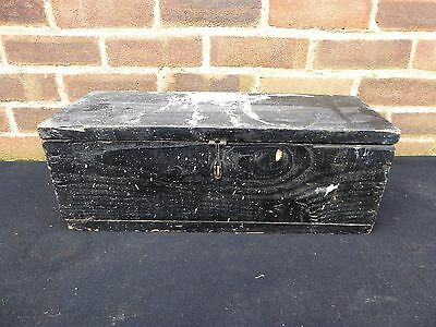 Vintage Wooden Tool Box Storage Chest Trunk Coffee Table Toy Box Hobbies Crafts