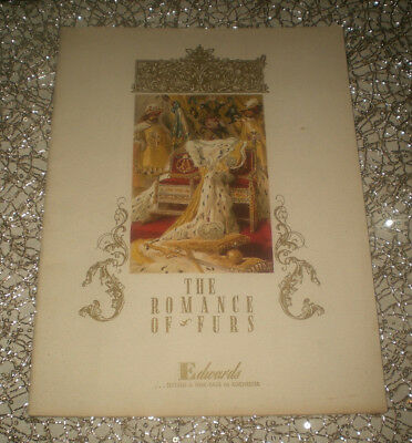 1946 THE ROMANCE OF FURS - Furs and Their Romantic Past-  Edwards Store Booklet