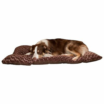 Cushion Pillow Furry Pet Dog Bed Chocolate Large 24 x 36 inches