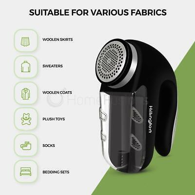 Electric Bobble Fluff Lint Remover Shaver Fuzz Off Fabric Jumper Large Clothes