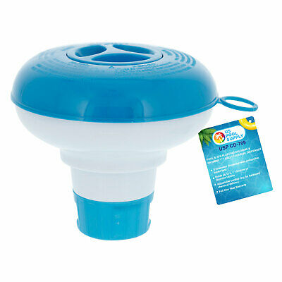 """Floating Chlorine 1"""" Tablet Swimming Pool Spa Chemical 5"""" Dispenser Collapsible"""
