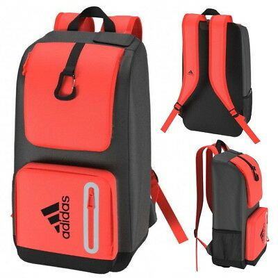 adidas HY Field Hockey Backpack Red Unisex Kit Bag With Stick Sleeve