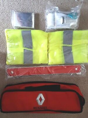 NEW 13-17 RENAULT CLIO MK4 EMERGENCY SAFETY KIT Triangle, First aid kit