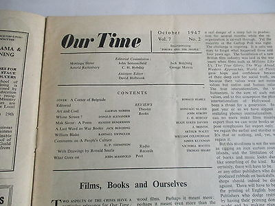 1947 Our Time Magazine Ronald Searle Cover William Blake E P Thompson Scarce