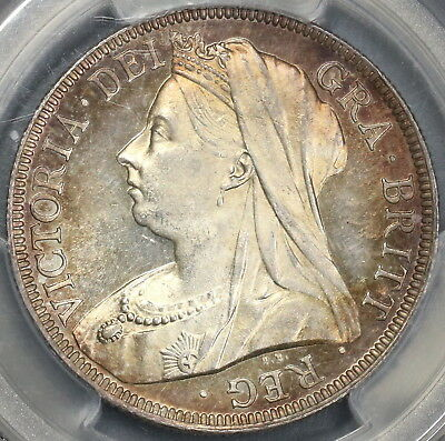 1898 PCGS MS 64 Victoria 1/2 Crown Great Britain Silver Coin (18091004C)