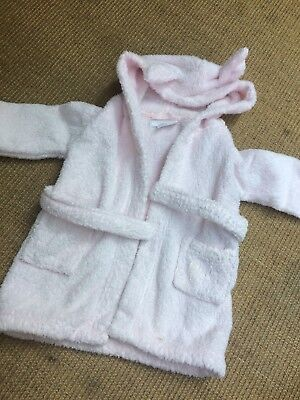 Baby Girl THE LITTLE WHITE COMPANY Pink Dressing Gown - Age 6-12 Months