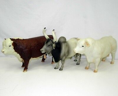 3 Breyer Bulls Bull ~ Polled Hereford ~ Brahma ~ Charolais Traditional Size