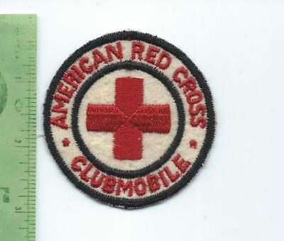 WWII American Red Cross Clubmobile patch  embroidered on felt