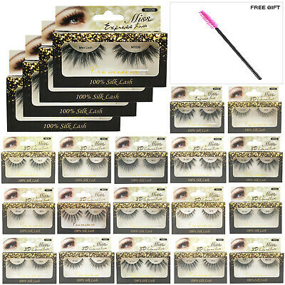 MISS LASHES 3D Volume Tapered Natural Silk Eyelash Extension [4 PACKS]+FREE GIFT