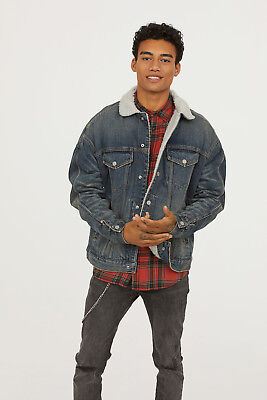 Nwt Hm Sherpa Lined Denim Jacket Mens Sizes L Xl Sold Out 5520