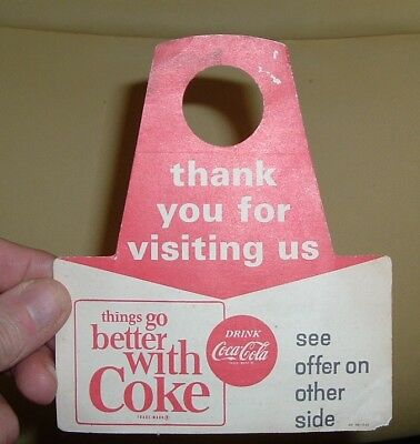 1960 COCA COLA Bottle Top Sign & SHELL GAS STATION SIGN Old Coke Advertisement