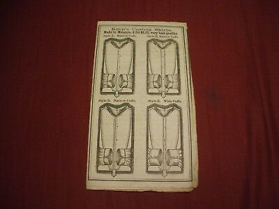 UNDATED 1800's KEEP'S PATENT PARTLY-MADE DRESS SHIRTS Catalog Brochure #1