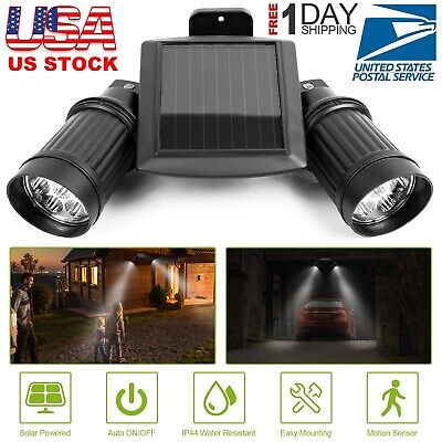 Solar Powered Waterproof LED Light Security Sensor Motion Detect Garden Lamp US