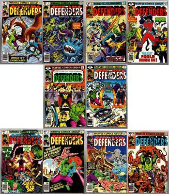 THE DEFENDERS #71-80, all signed by Herb Trimpe, others