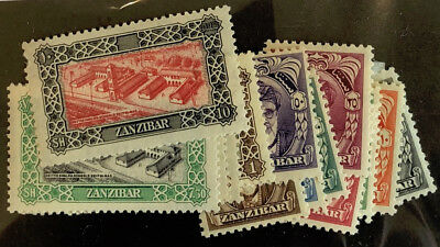 ZANZIBAR  230 - 243 Very  Nice  Mint  Light  Hinged  Set  UPTOWN  pd 5