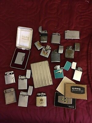 Large Vintage Lighter Collection Zippo And Others