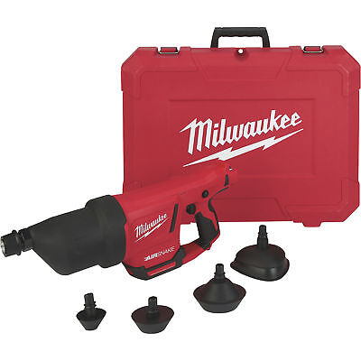 Milwaukee M12 35ft. Airsnake Drain Cleaning Air Gun - Tool Only Model#2572A-20