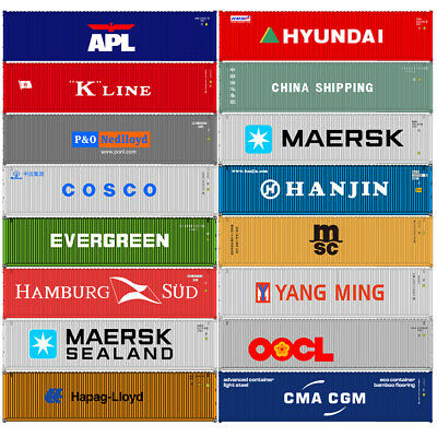 HO Scale 40ft Containers Shipping Container Freight Car Model Trains Wagon